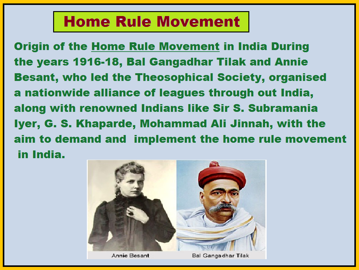 founder of home rule movement