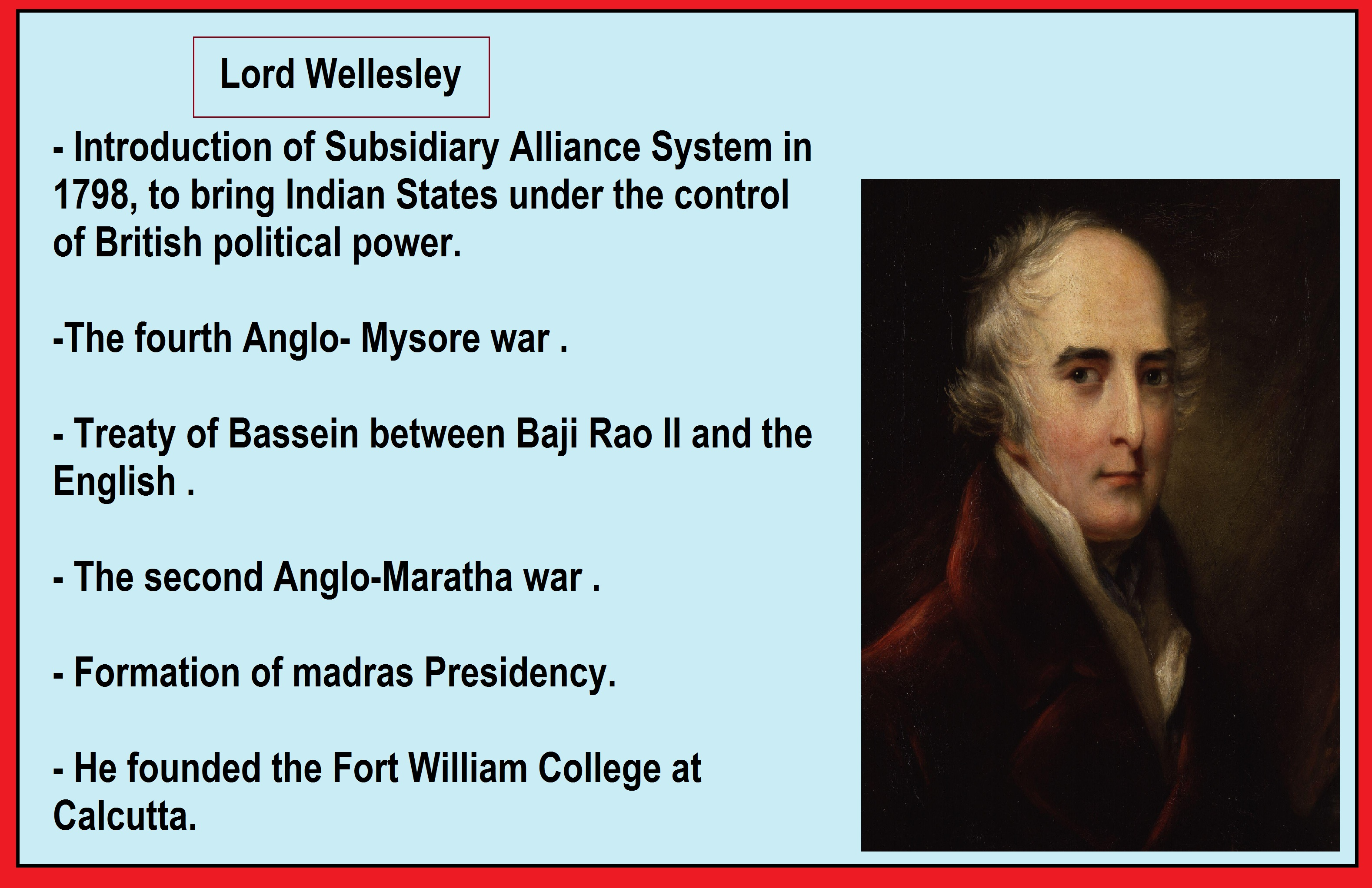 which british viceroy was related to subsidiary alliance system